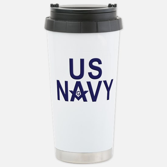 Navy Masons Stainless Steel Travel Mug