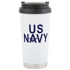 Navy Masons Travel Mug