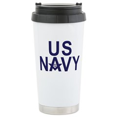 Navy Masons Travel Mug