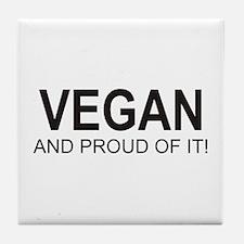 The Proud Vegan Tile Coaster
