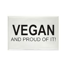 The Proud Vegan Rectangle Magnet