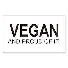 The Proud Vegan Rectangle Decal