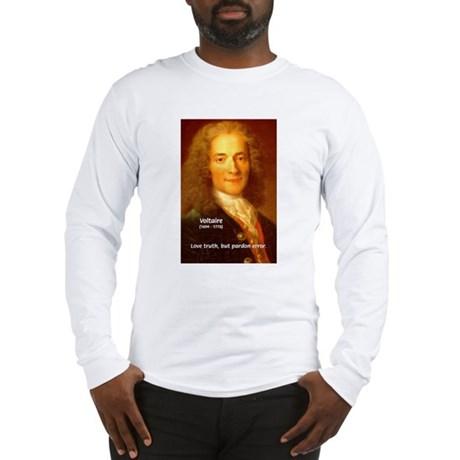 French Philosopher: Voltaire Long Sleeve T-Shirt