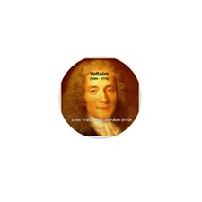 French Philosopher: Voltaire Mini Button (10 pack)