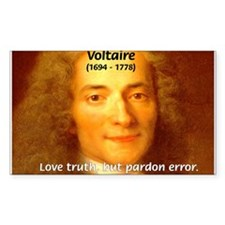 French Philosopher: Voltaire Rectangle Decal