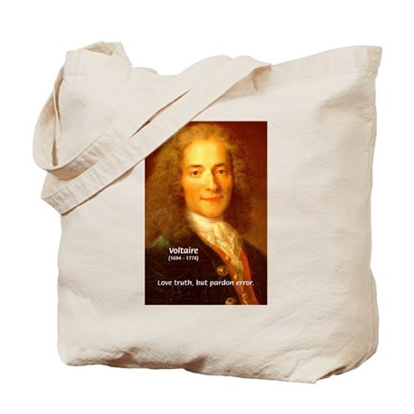 French Philosopher: Voltaire Tote Bag