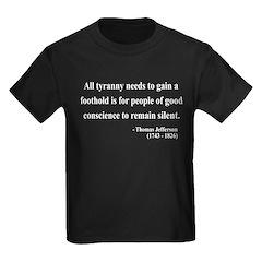 Thomas Jefferson 4 Kids Dark T-Shirt