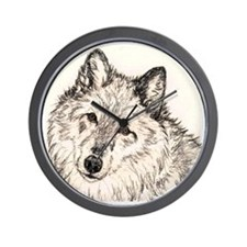 Alpha Female Wolf Wall Clock