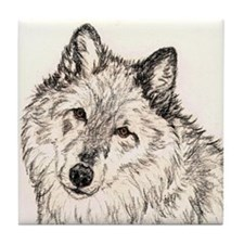 Alpha Female Wolf Tile Coaster
