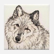 Alpha Female Wolf Tile Coaster