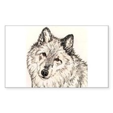 Alpha Female Wolf Rectangle Decal