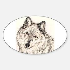 Alpha Female Wolf Oval Decal