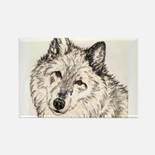Alpha Female Wolf Rectangle Magnet