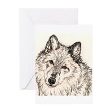 Alpha Female Wolf Greeting Card
