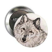"""Alpha Female Wolf 2.25"""" Button (10 pack)"""