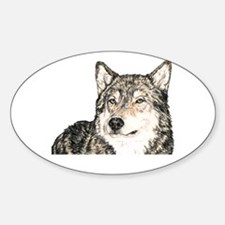 Alpha Male Wolf Oval Decal