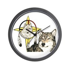 Hidden Forces Wolf Wall Clock