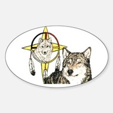 Hidden Forces Wolf Oval Decal
