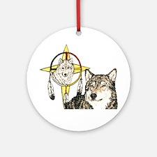 Hidden Forces Wolf Ornament (Round)