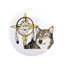"Hidden Forces Wolf 3.5"" Button"