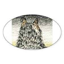 Opportunity Wolf Oval Decal