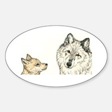 Respect Wolf Oval Decal