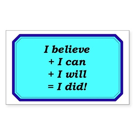 """""""It Starts With Belief"""" Rectangle Sticker 50 pk)"""