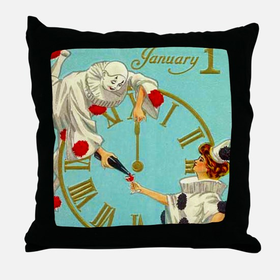 Happy New Year Big 18X18 Throw Pillow