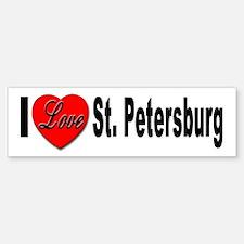 I Love St. Petersburg Bumper Bumper Bumper Sticker