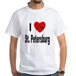 I Love St. Petersburg (Front) White T-Shirt