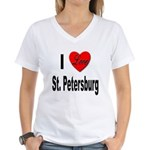 I Love St. Petersburg Women's V-Neck T-Shirt