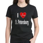 I Love St. Petersburg (Front) Women's Dark T-Shirt