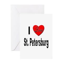 I Love St. Petersburg Greeting Card