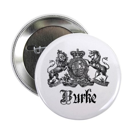 "Burke Vintage Family Name Crest 2.25"" Button"