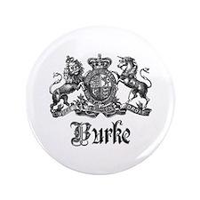 "Burke Vintage Family Name Crest 3.5"" Button (100 p"