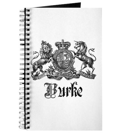 Burke Vintage Family Name Crest Journal