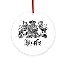 Burke Vintage Family Name Crest Ornament (Round)