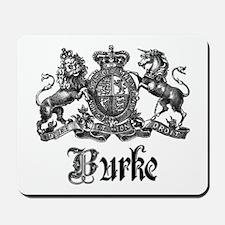 Burke Vintage Family Name Crest Mousepad