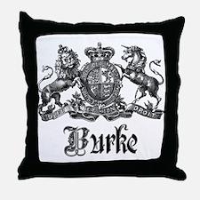 Burke Vintage Family Name Crest Throw Pillow