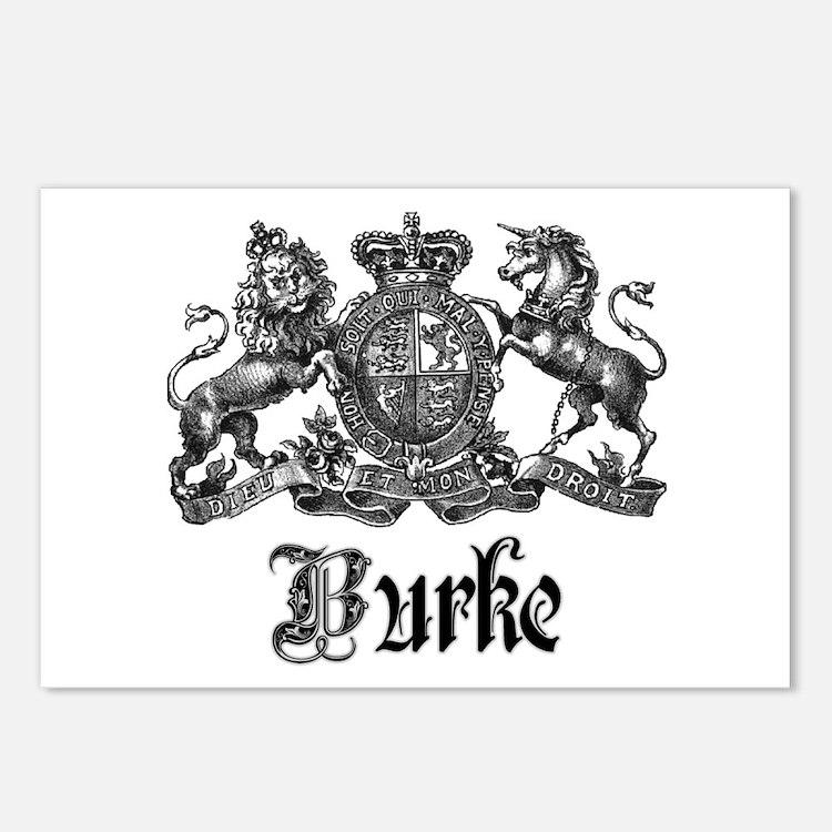 Burke Vintage Family Name Crest Postcards (Package