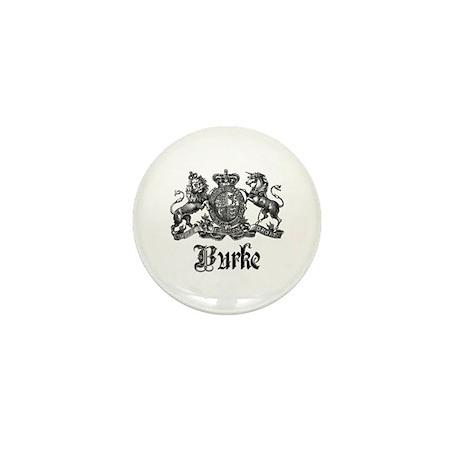 Burke Vintage Family Name Crest Mini Button (10 pa