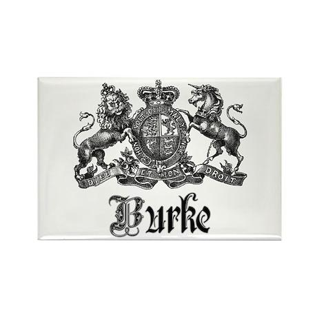 Burke Vintage Family Name Crest Rectangle Magnet
