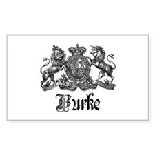 Burke Vintage Family Name Crest Decal