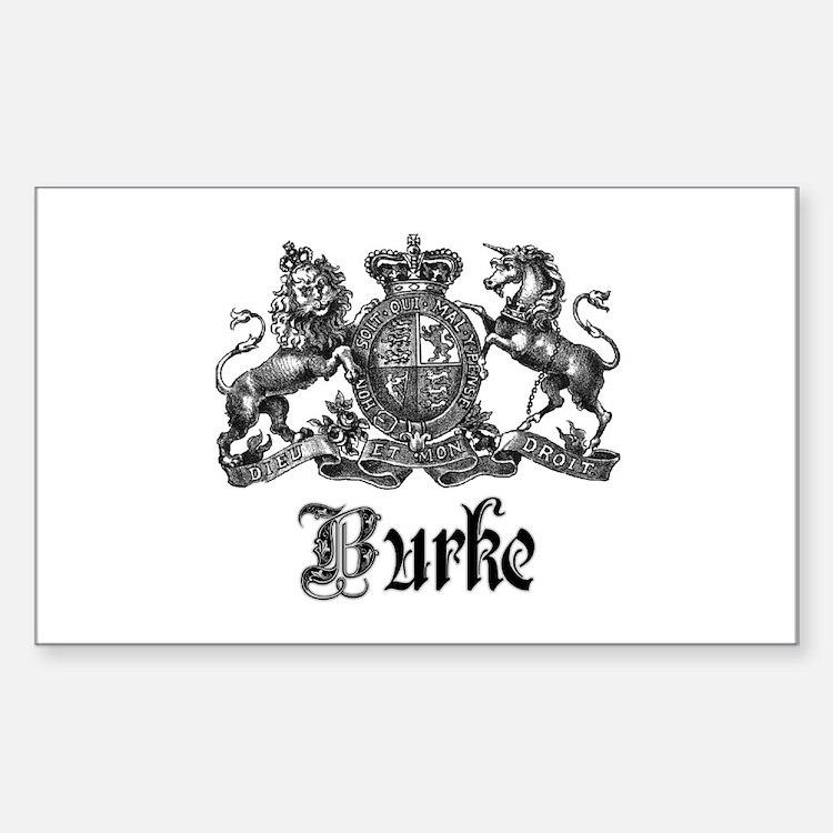 Burke Vintage Family Name Crest Decal