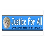 Justice Rectangle Sticker 50 pk)