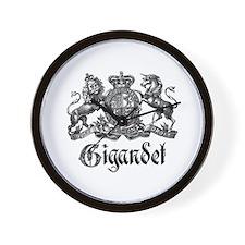 Gigandet Vintage Family Name Crest Wall Clock