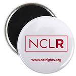 White NCLR Round Magnet