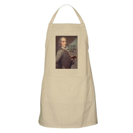 French Philosopher: Voltaire BBQ Apron