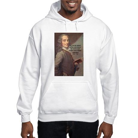 French Philosopher: Voltaire Hooded Sweatshirt