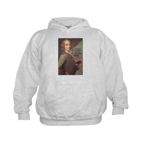 French Philosopher: Voltaire Kids Hoodie